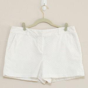 Loft White Eyelet Shorts 10
